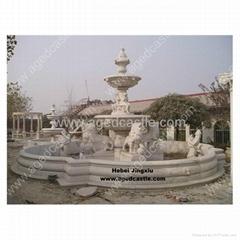 outdoor stone garden fountain