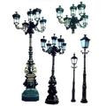 cast iron street lamp and lamp post, road lamp post