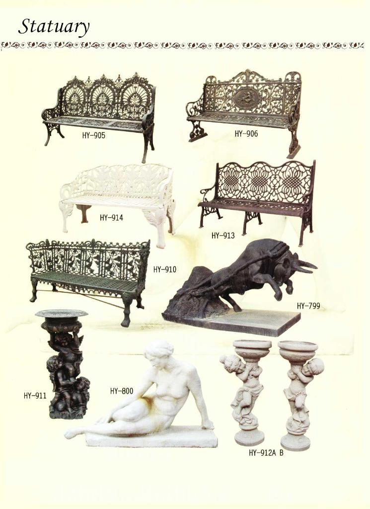 Cast Of Benched : Cast iron bench china manufacturer metal crafts