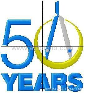 Jensen 50th embroidery digitizing/design service