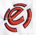 Wholesale 3D effect embroidery patch,flat embroidery patch/badge/logo,cheap