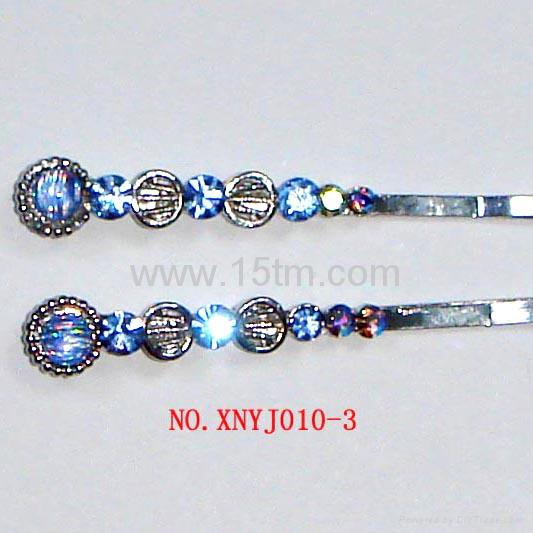 Fashion Hairpin with Cz Stones for lady and girl 3
