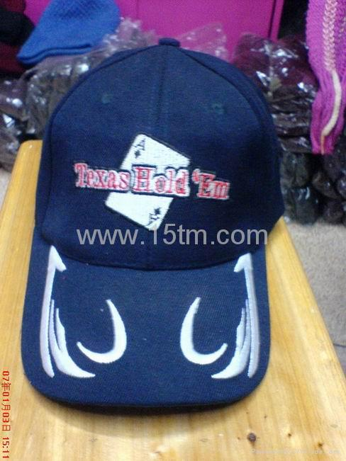 100% Cotton Baseball Cap with Embroidery 1
