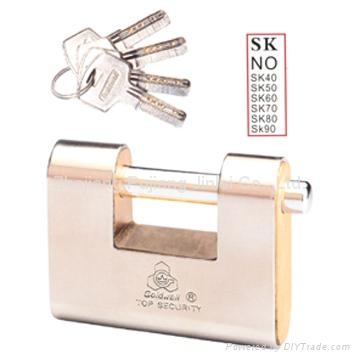 block padlock with stainless steel jacket