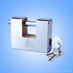 All steel armoured rectangle padlock