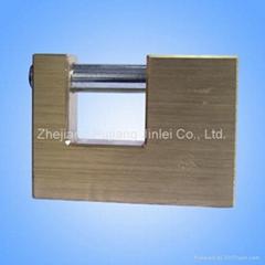 Brass rectangle padlock