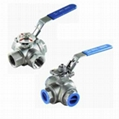 3-way ball valve 1000PSI L/T with mound pad