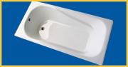 enameled cast iron bathtub