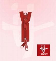nylon zipper with 2 O/E A/L