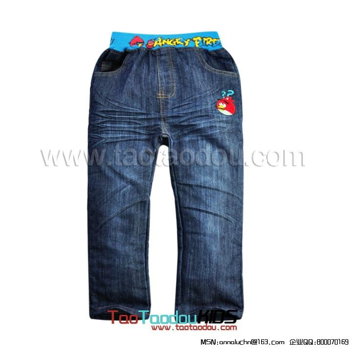 卡通Angry Birds儿童牛仔裤  2