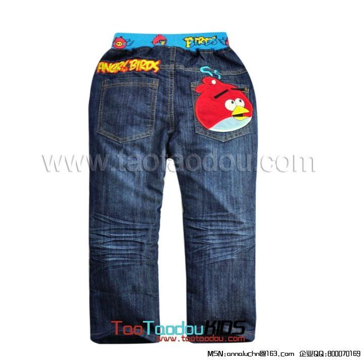 卡通Angry Birds儿童牛仔裤  5