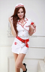 factory price sexy Naughty Nusrse Costume uniform