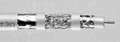 coaxial cable(RG 6/4F cu trishield)