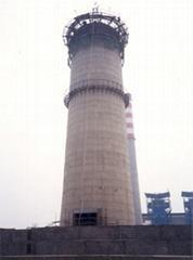 浙江60米烟囱新建砼滑模