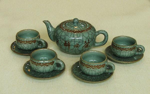 Celadon porcelain tea set 4