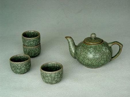 Celadon porcelain tea set 5