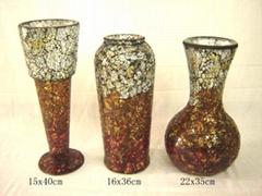 玻璃馬賽克風燈花瓶
