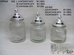 玻璃透明儲藏罐配電鍍poly頭