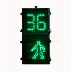 LED pedestrian walking lamp with countdown screen