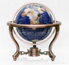 大型仿宝石地球仪