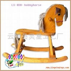 wooden toys-LX-038-hobbyhorse