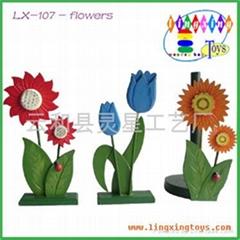 木製玩具,木製工藝品,花卉紙巾台 LX-107
