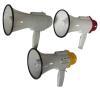 megaphones, loudspeakers