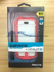Survivor Catalyst Waterproof Underwater Case for iPhone 4 4s with Package