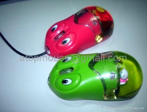 有线入油鼠标液体鼠标光电鼠标漂浮鼠标大眼睛入油鼠标 2