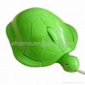 乌龟光电鼠标,卡通有线鼠标 礼