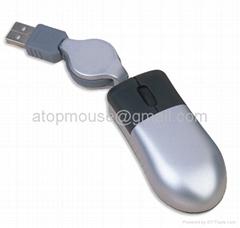伸缩线迷你笔记本旅行鼠标大拇指鼠标
