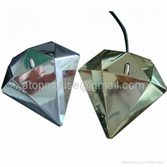 Diamond gift mouse diamond shape wired mouse