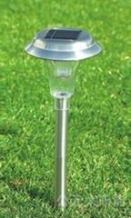 plastic stainless steel solar lawn light