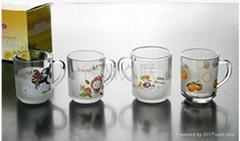 玻璃口杯玻璃马克杯