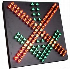red cross green arrow