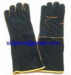 black welding glove