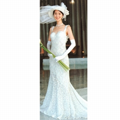 hand-knitting wedding dress