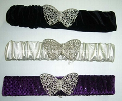 lady fashionable elastic fabric belts ,made in China