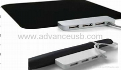 USB Hub Mouse Pad/usb hub led mouse pad with speaker/mircrophone/card reader