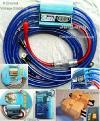 Fuel Saver Car Battery Voltage Stabilizer Regulator With 8 Ground Or 2 Ground