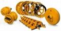 支重轮,托链轮,引导轮,驱动轮 3