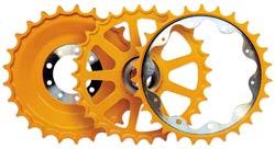 支重轮,托链轮,引导轮,驱动轮 5
