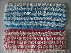 雪尼爾紗線簇絨面料坯布胚布
