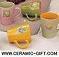 ceramic and porcelain mug set