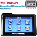"4.3""GPS navigation + FM transmitter+bluetooth handfree car kit"