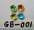 Glass Round beads,Crystal  Fitting