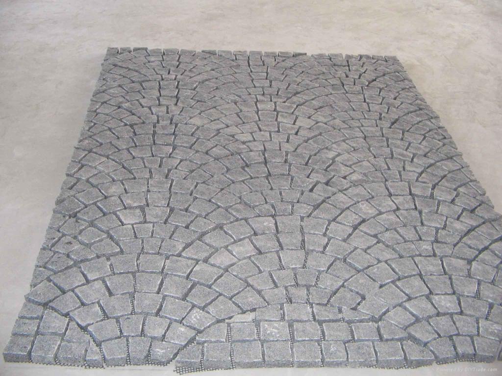Stone Paving Stones : Granite paving stones g cube stone fan shape