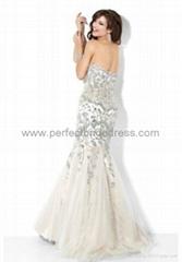 Satin Strapless Mermaid Long Prom Dress Evening Dress Party Wear P-0901