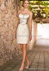 Taffeta Strapless Sweetheart A-Line 2 in 1 Wedding Dress WD-3907