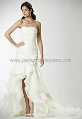Organza Strapless Mermaid 2 in 1 Wedding Dress Bridal Gowns Bridal Dress WD-3905